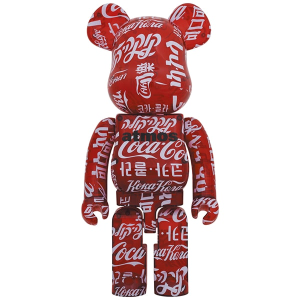 BE@RBRICK atmos × Coca-Cola CLEAR RED 1000%