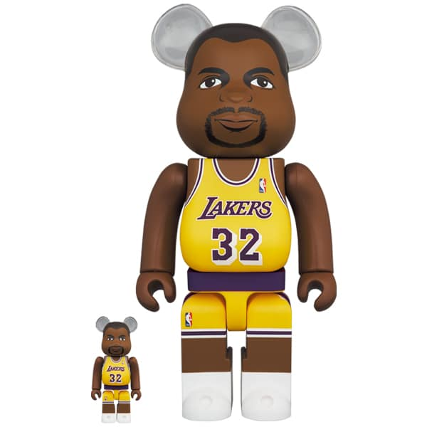 BE@RBRICK Magic Johnson (Los Angeles Lakers) 100% & 400%