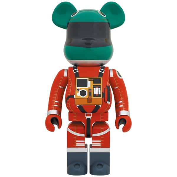 BE@RBRICK SPACE SUIT GREEN HELMET & ORANGE SUIT Ver. 1000%