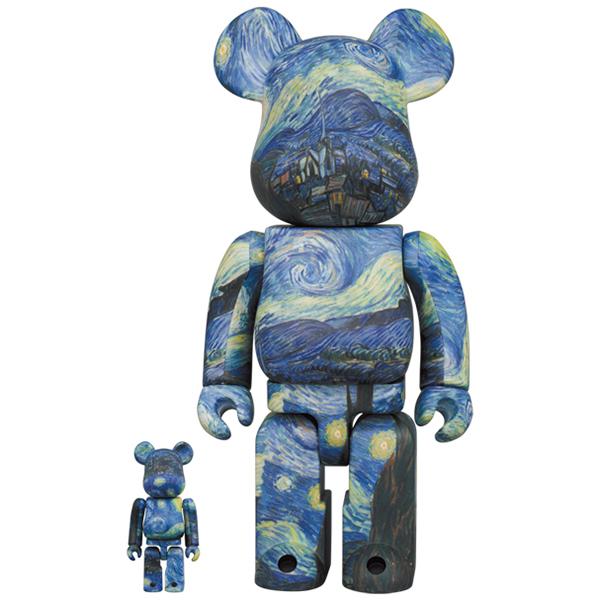 Vincent van Gogh The Starry Night BE@RBRICK 100% & 400%