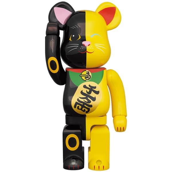 BE@RBRICK 招き猫 黒×黄 1000%